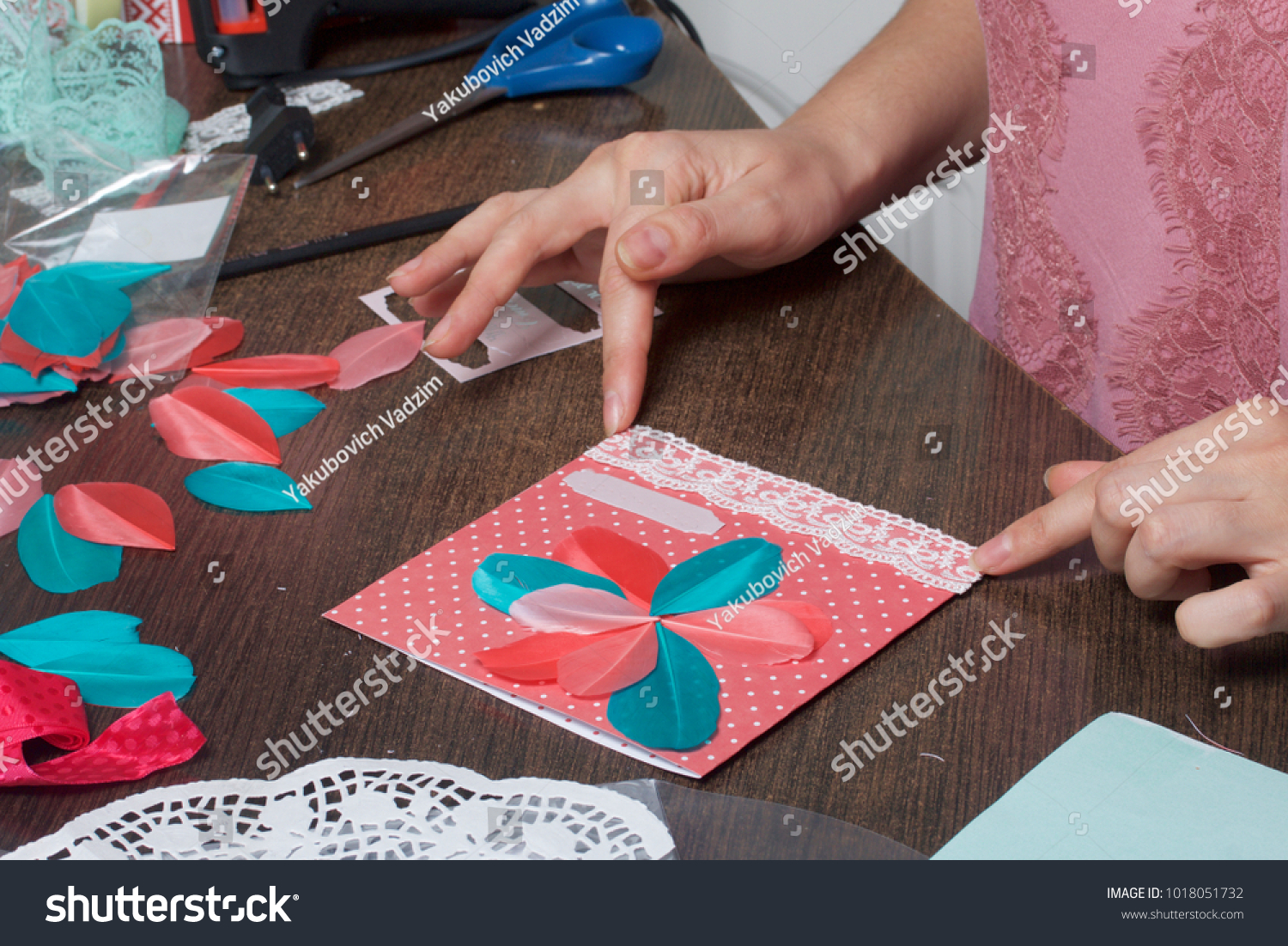 Girl engaged making greeting cards home stock photo royalty free girl engaged making greeting cards home stock photo royalty free 1018051732 shutterstock m4hsunfo