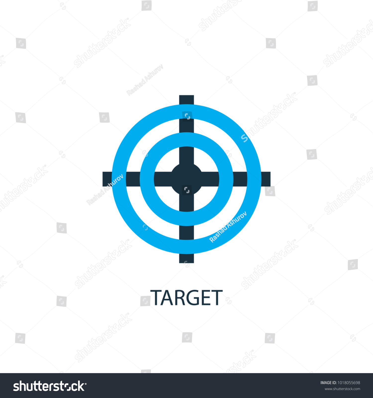 Target icon logo element illustration target stock vector target icon logo element illustration target symbol design from 2 colored collection simple buycottarizona Image collections