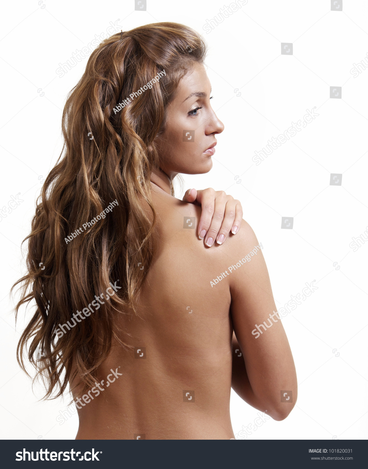 Her back is against the wall 7