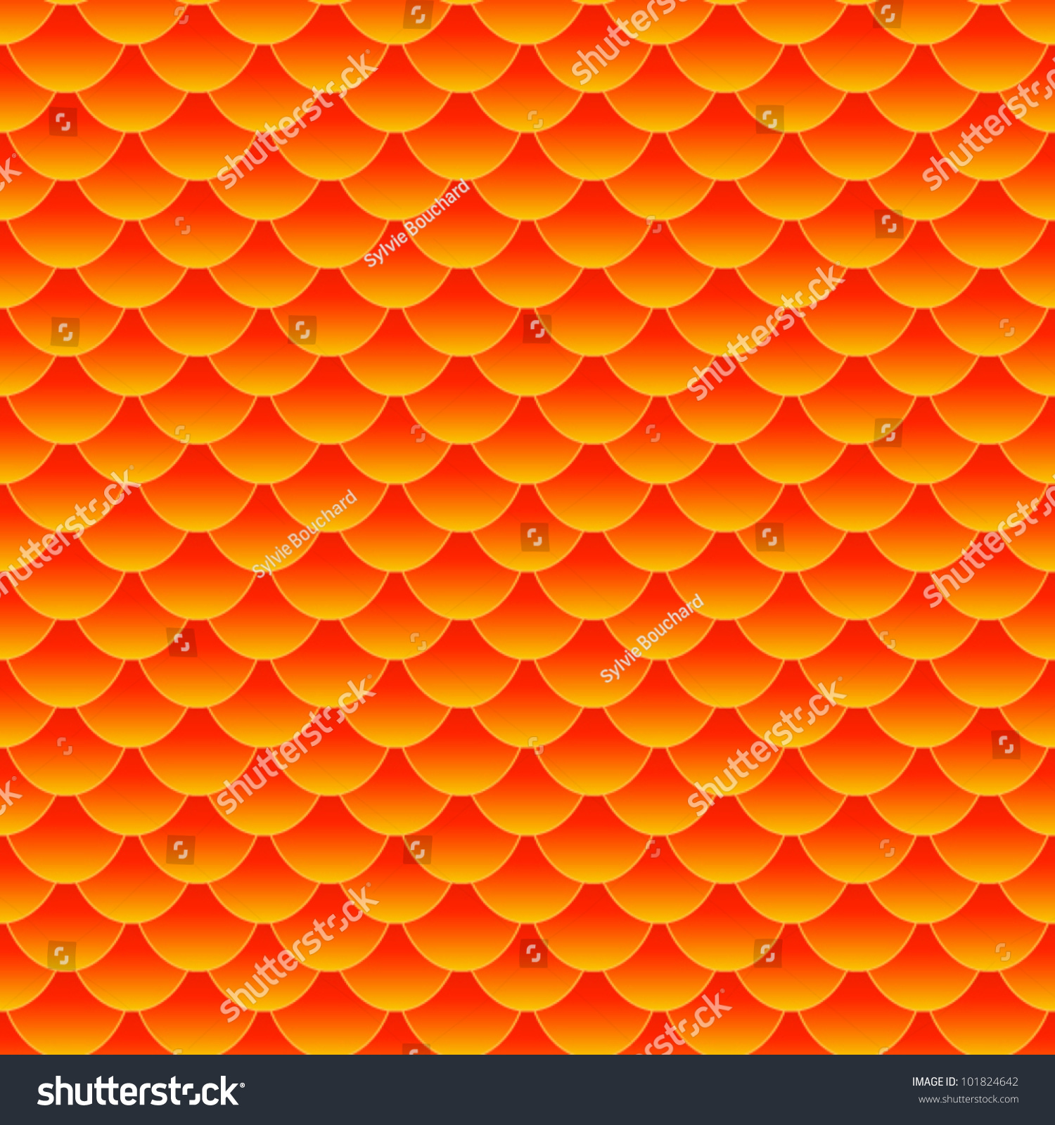 Eps 10 seamless pattern of small colorful goldfish or koi for Koi fish scales