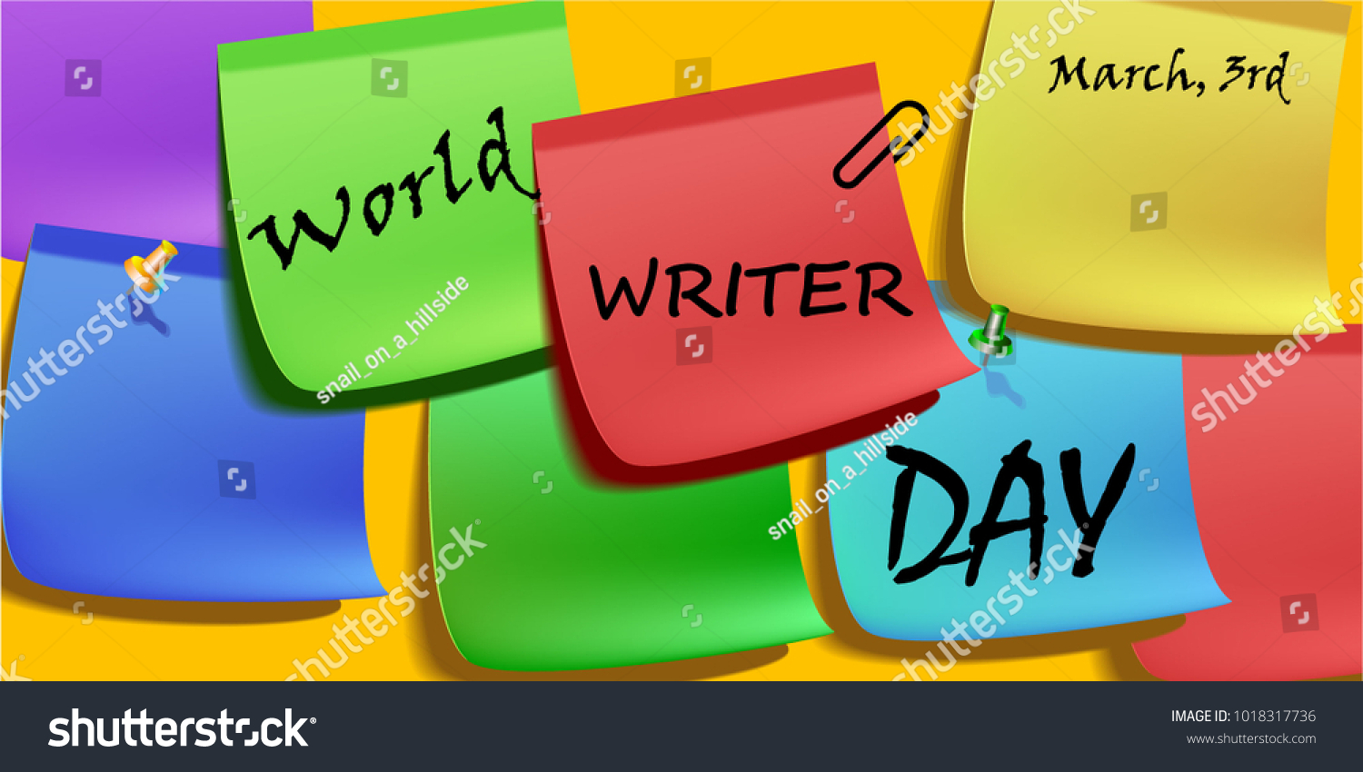 Greeting card writer images greeting card examples world writer day greeting card colorful stock vector 1018317736 world writer day greeting card with colorful kristyandbryce Choice Image