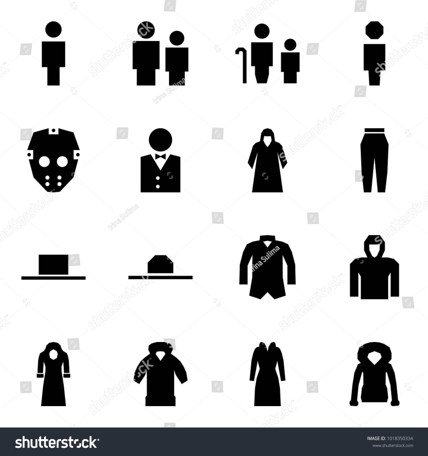 Origami Style Icon Set Man Vector Stock 1018350334