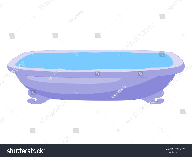 Bath Tub Vector Stock Vector HD (Royalty Free) 1018356367 - Shutterstock