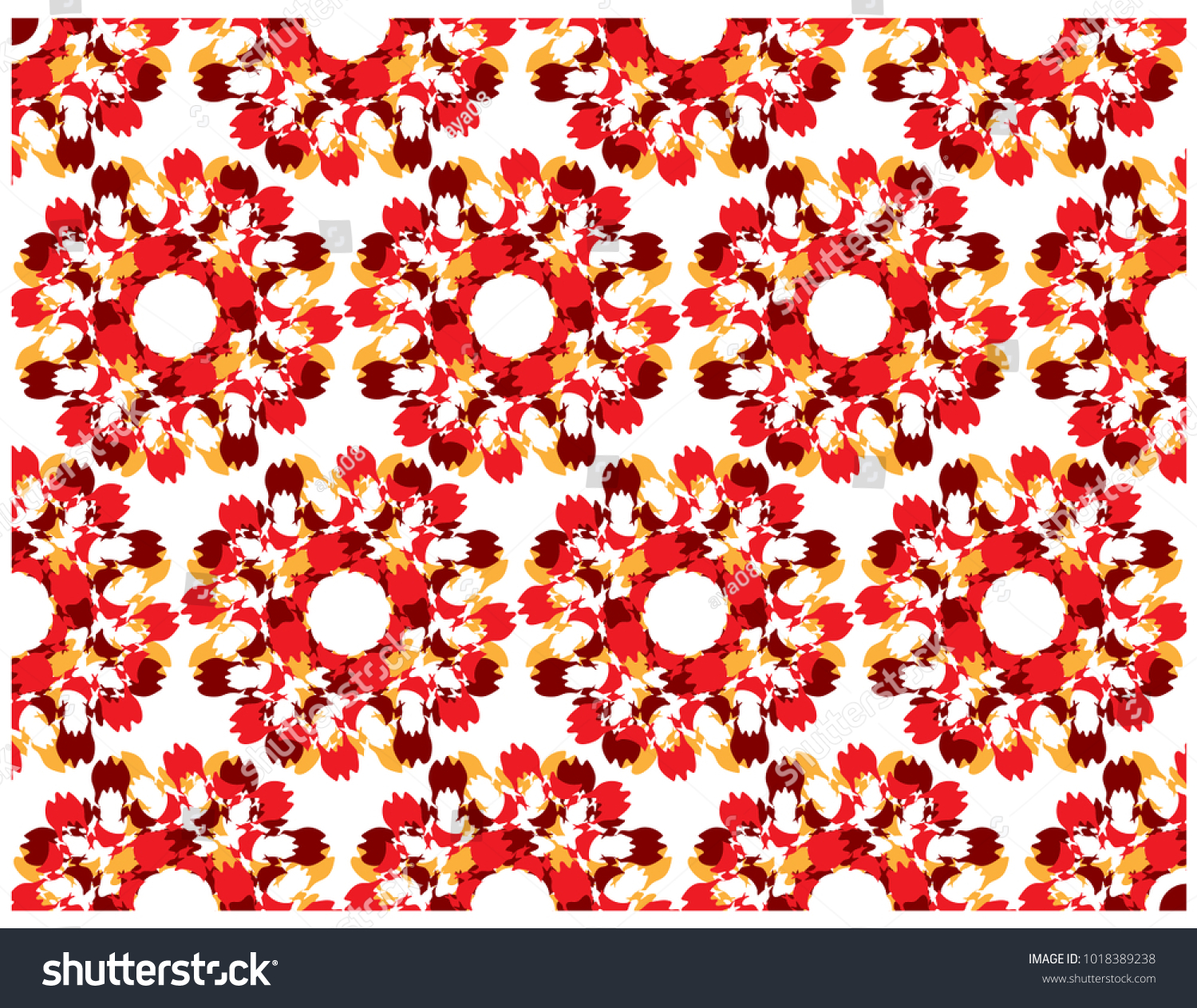 Water Pattern Flower Color Shape Parallel Stock Vector 1018389238 ...