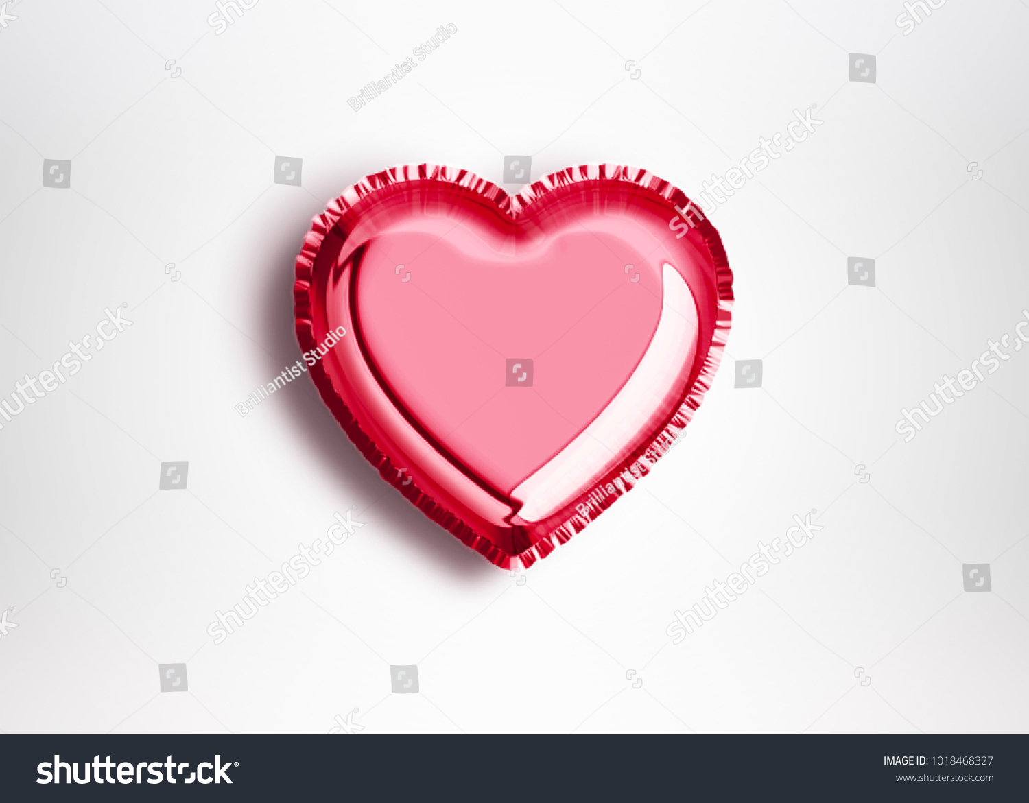 Heart Balloon Love Symbolic Design 3 D Stock Illustration 1018468327