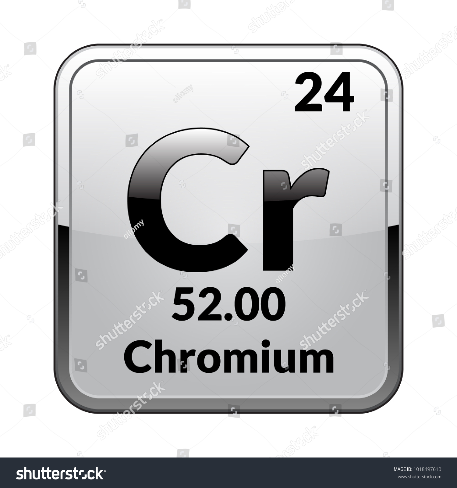 Silver symbol on periodic table gallery symbol and sign ideas chromium symbolchemical element periodic table on stock vector chromium symbolemical element of the periodic table on buycottarizona
