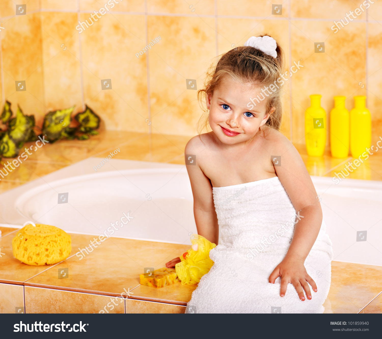 Bathroom Pic Girl: Little Girl In Bathroom. Stock Photo 101859940 : Shutterstock