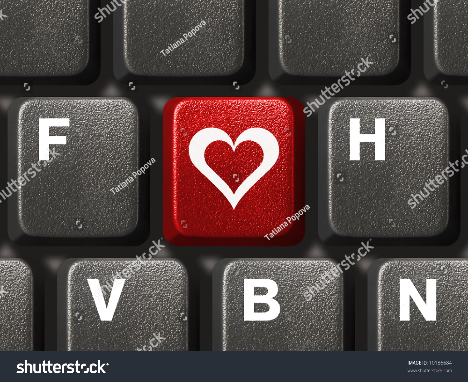 how to get a love heart on the keyboard