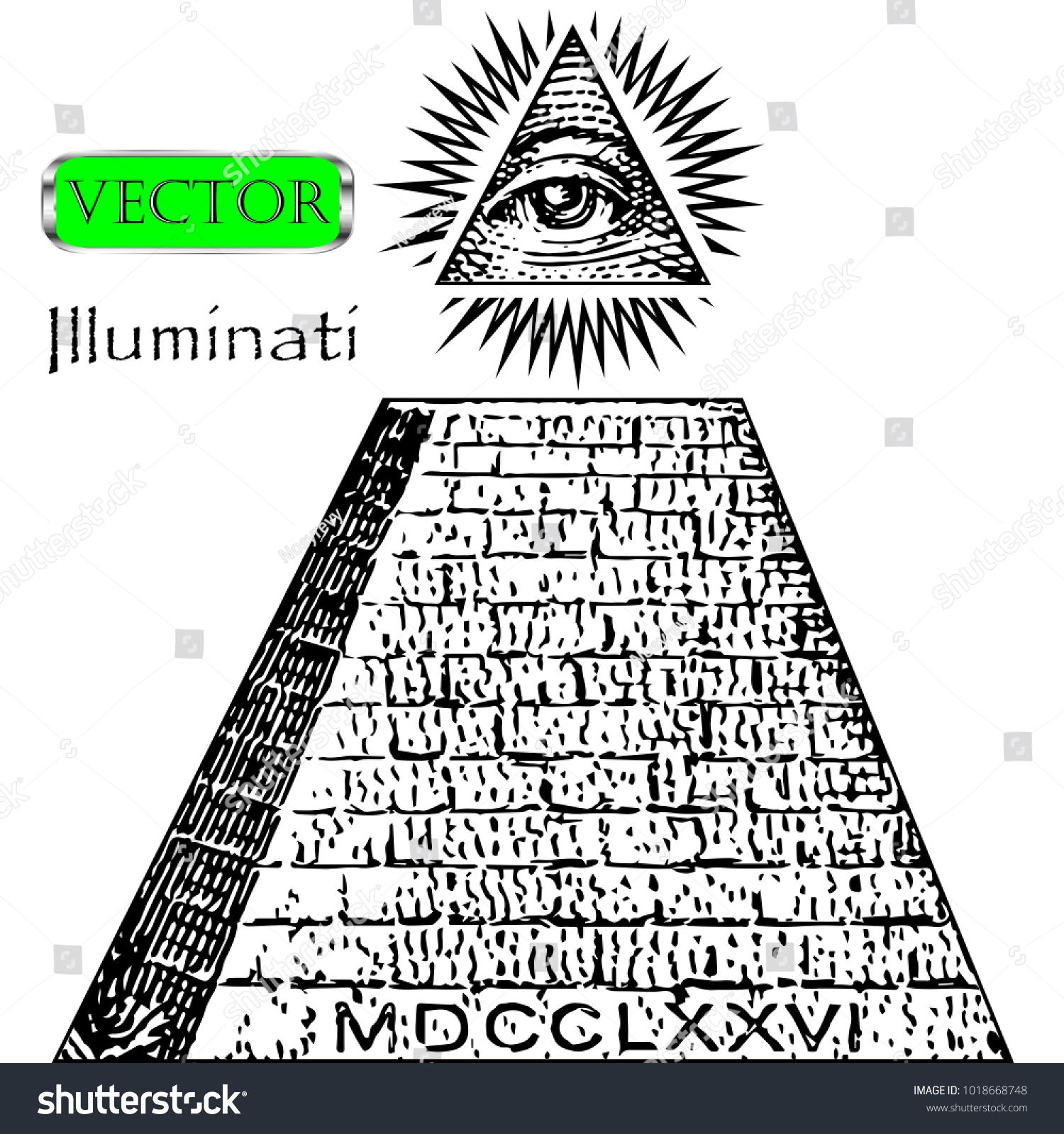 One Dollar Pyramid New World Order Stock Vector Royalty Free