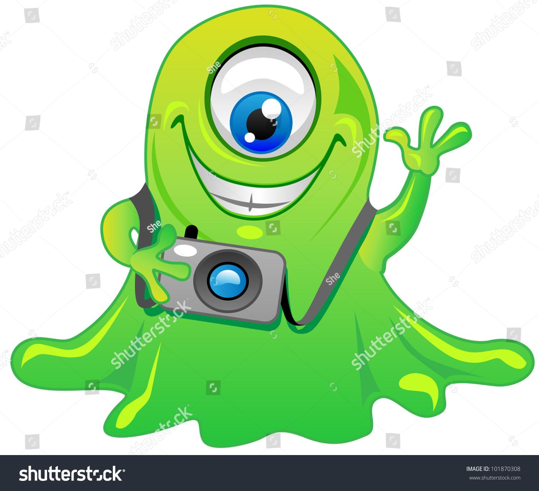 Cartoon Characters Green : Green cartoon characters with one eye ankaperla