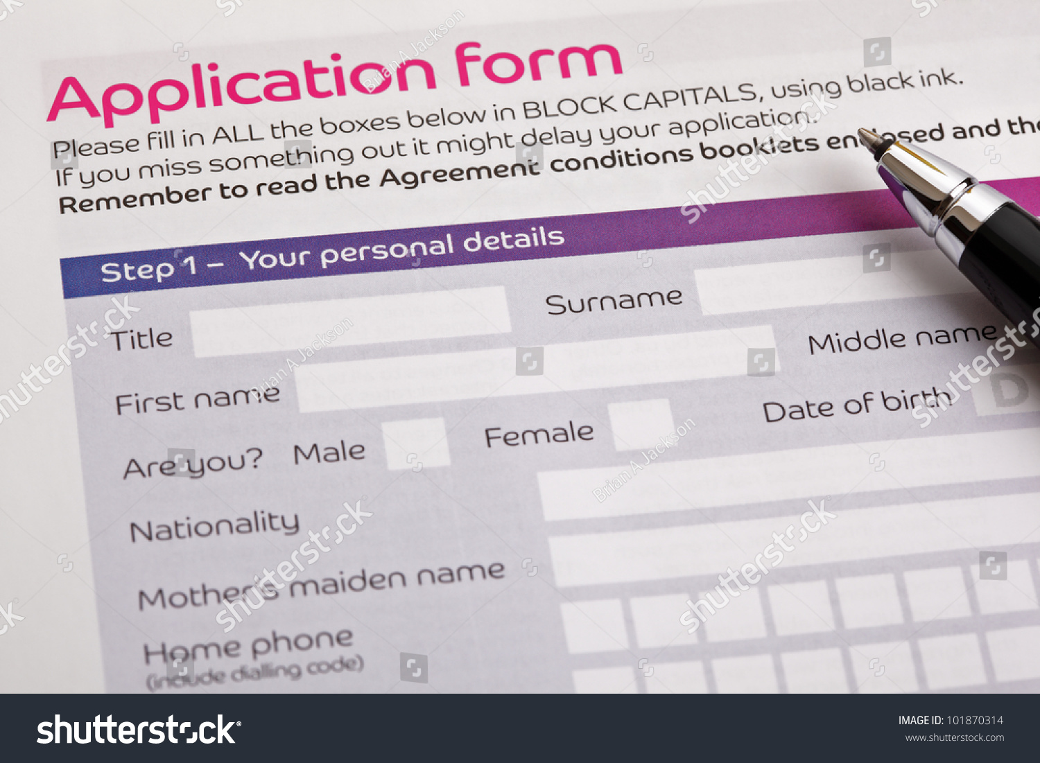 application form concept applying job finance stock photo application form concept for applying for a job finance loan mortgage or a