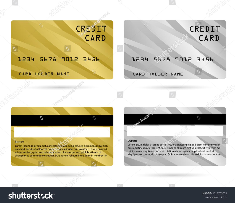 Modern Credit Card Business Vip Card Stock Vector 1018705573 ...