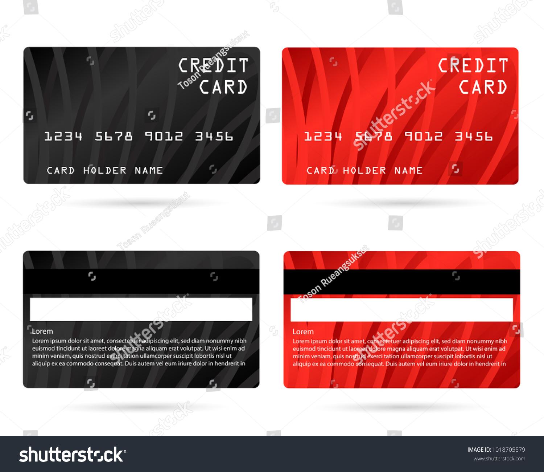 Modern Credit Card Business Vip Card Stock Vector 1018705579 ...