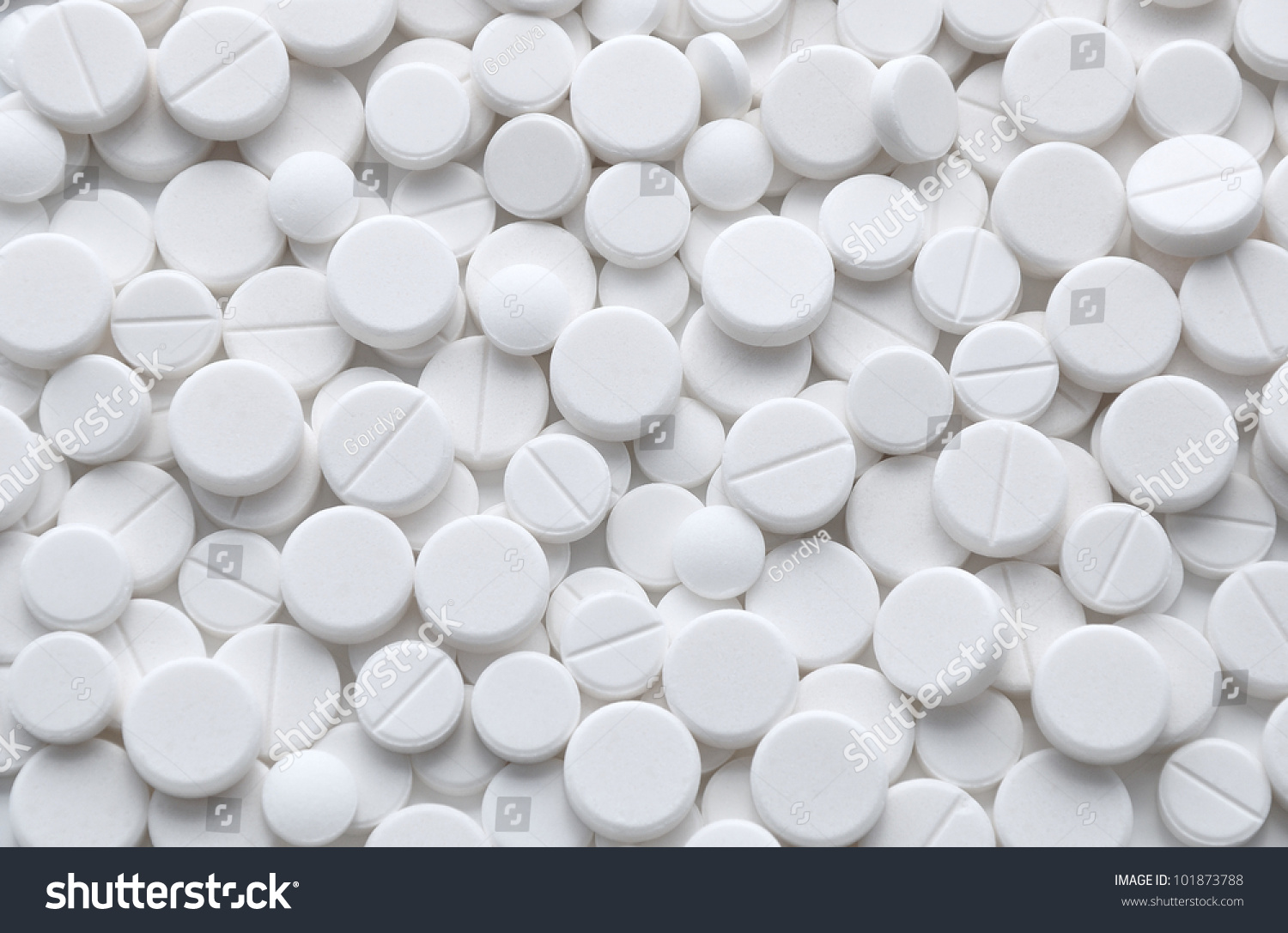 white pills tablets background medicine objects stock