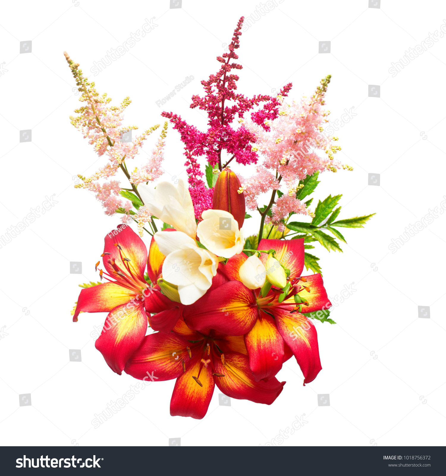 Flowers lily ixia astilbe bouquet isolated stock photo royalty free flowers lily ixia astilbe bouquet isolated stock photo royalty free 1018756372 shutterstock izmirmasajfo