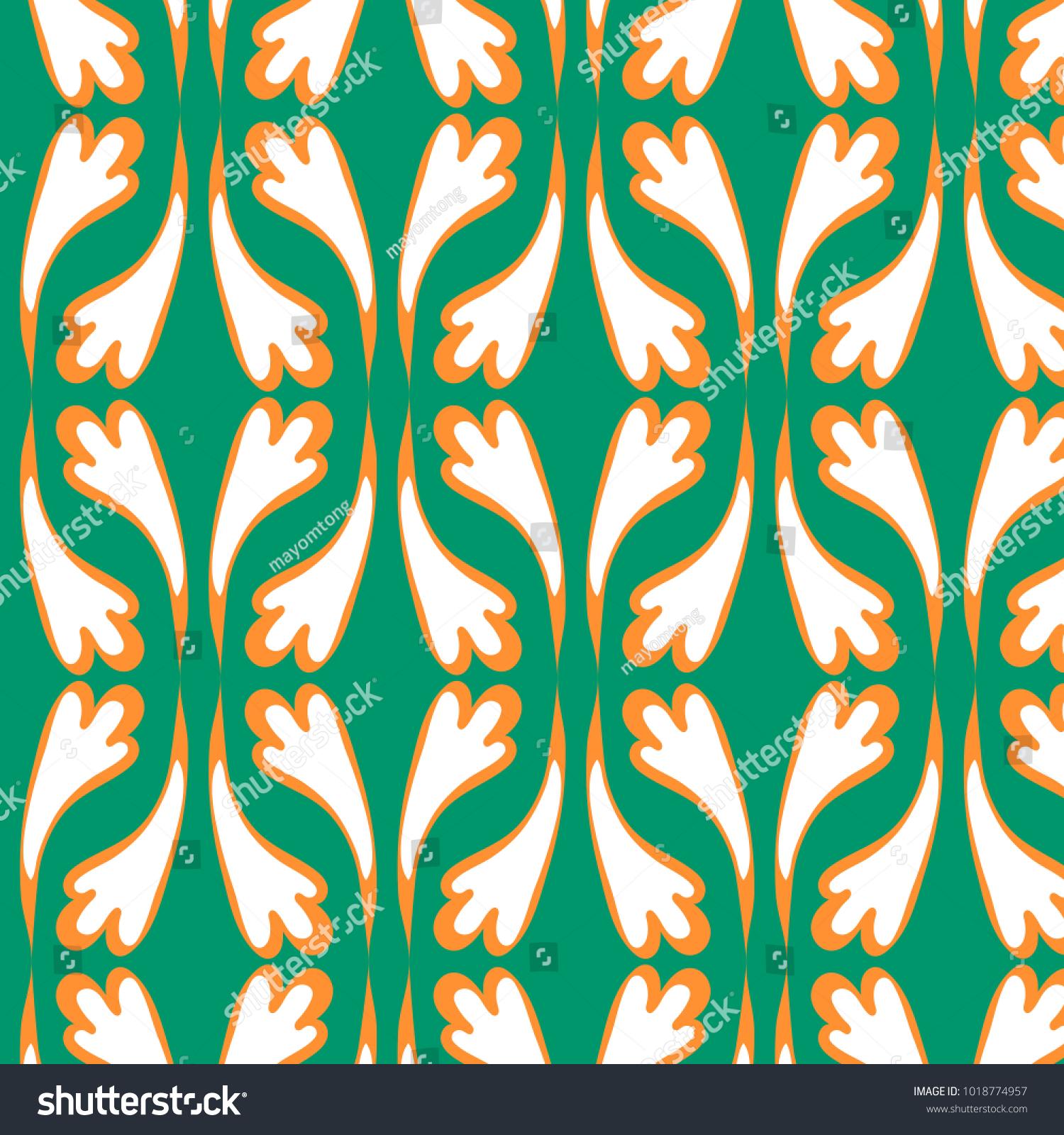 Vector Illustration Of A 70s Wallpaper Patterns