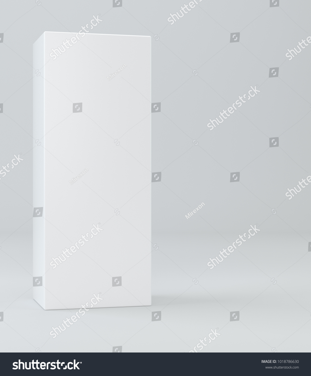 white realistic rectangle box package mockup stock illustration