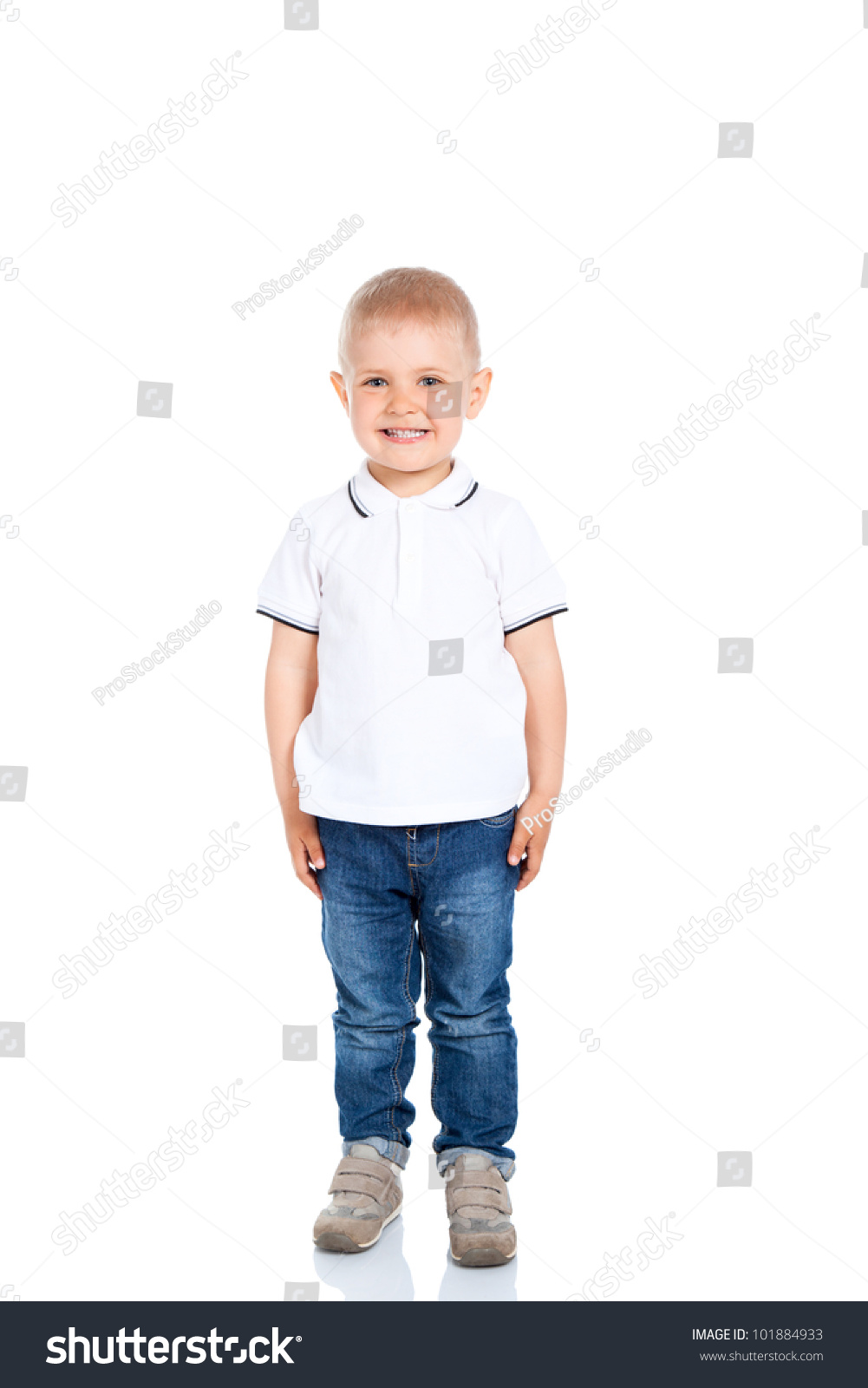Portrait Happy Joyful Beautiful Little Boy Stock Photo ...