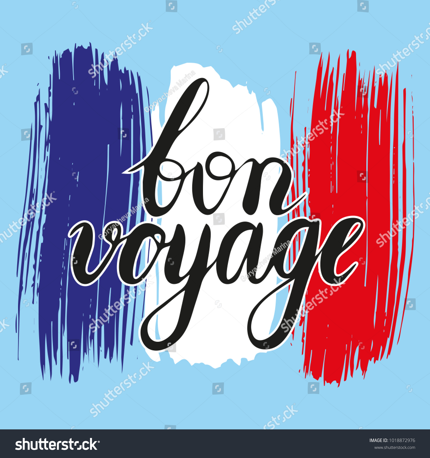 Bon Voyage Have Nice Trip French Stock Vector Royalty Free