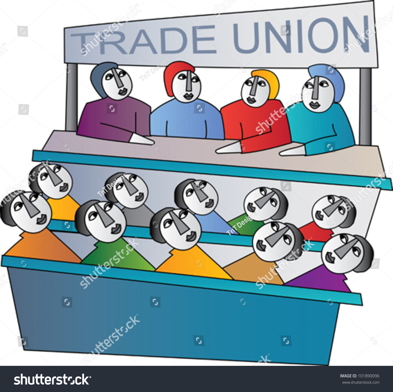 Stock Vector Trade Union
