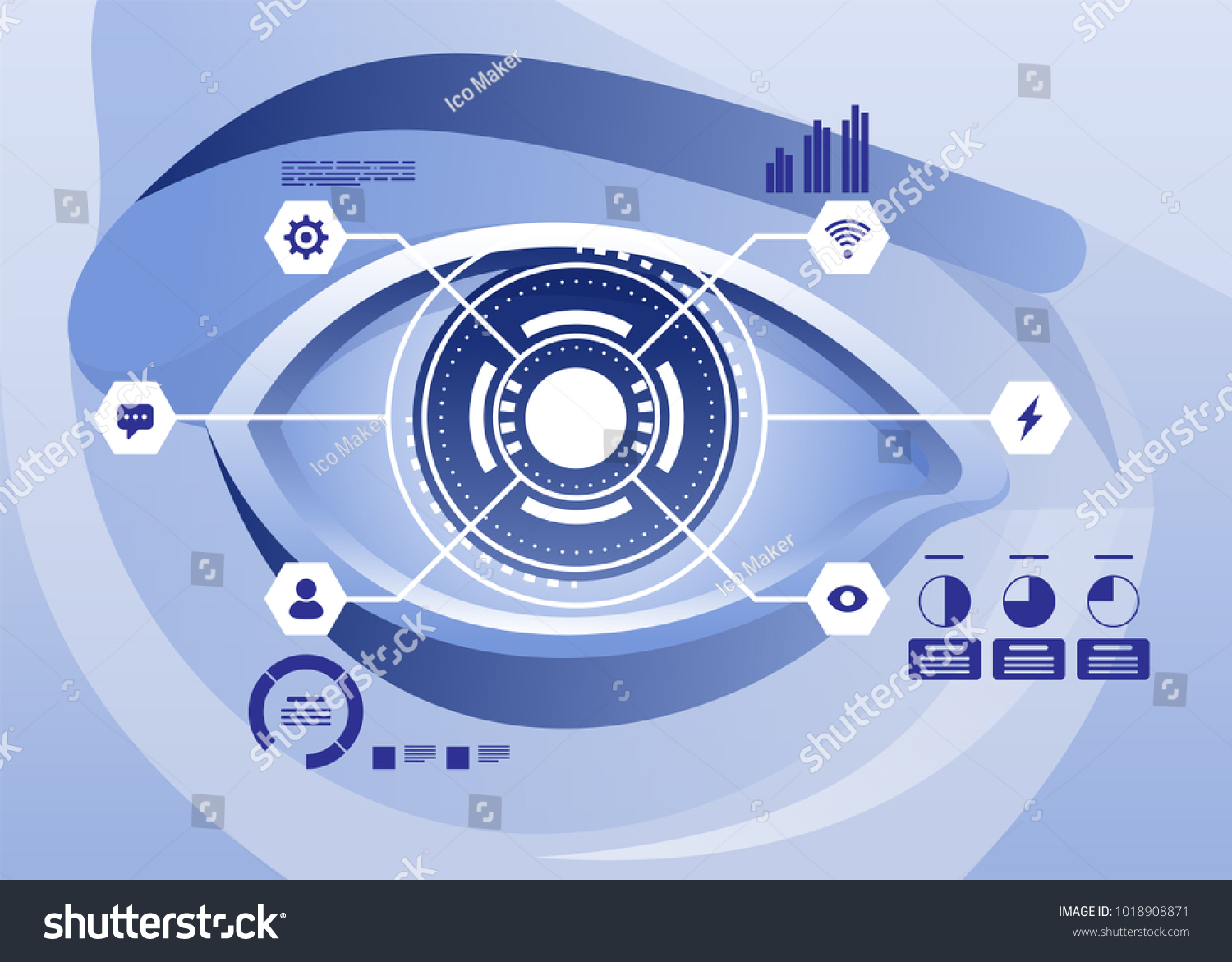 Augmented Reality Future Biotech Technology Concept Stock