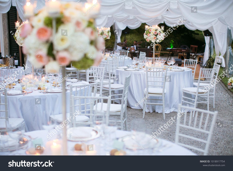 Beautiful Flowers Luxury Wedding Decor White Stock Photo Edit Now