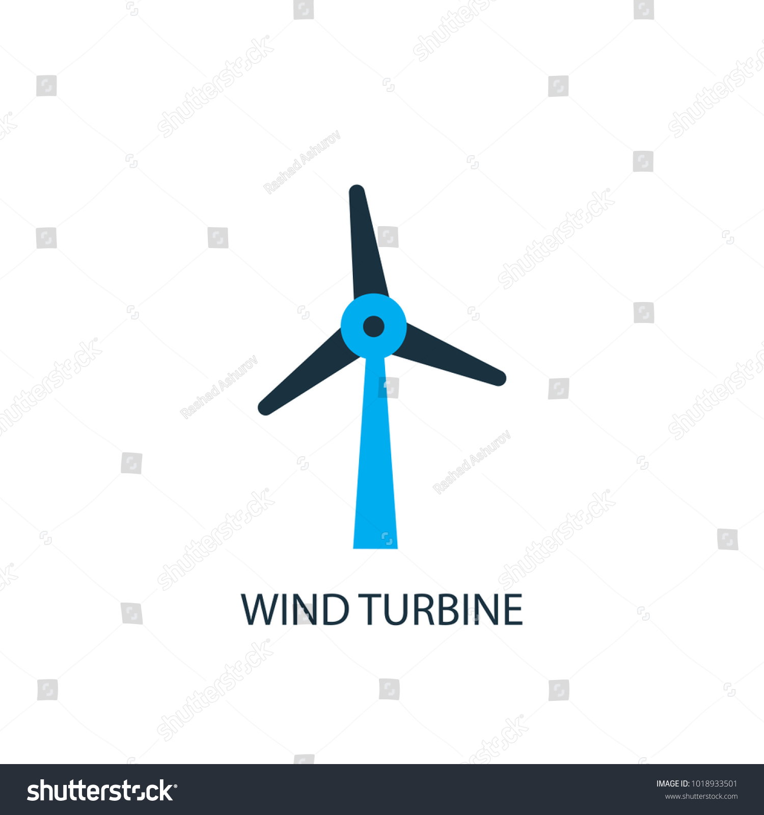 Wind Turbine Icon Logo Element Illustration Stock Vector Royalty
