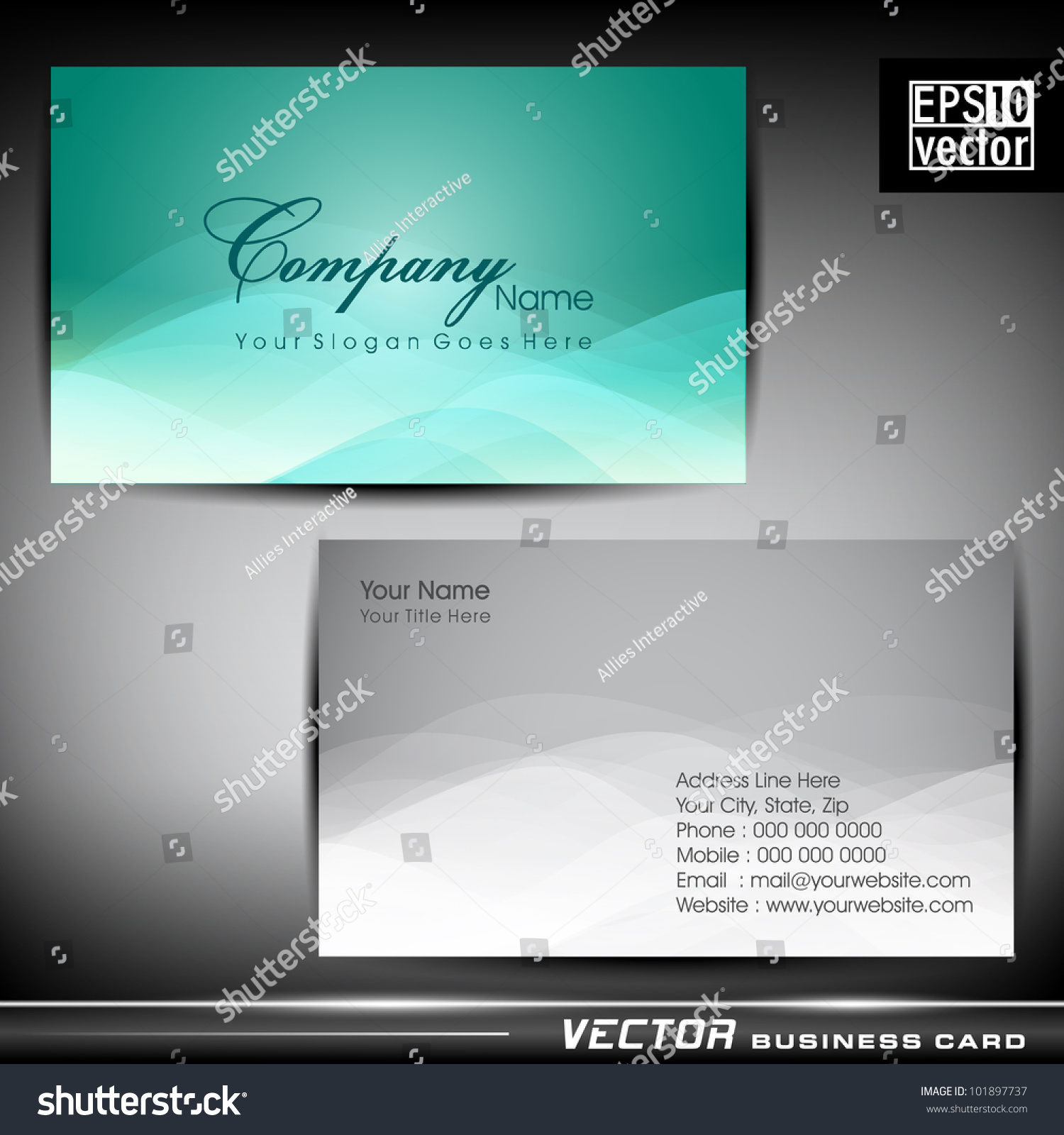 business letter format email%0A Abstract Professional Designer Business Card Template Stock Vector