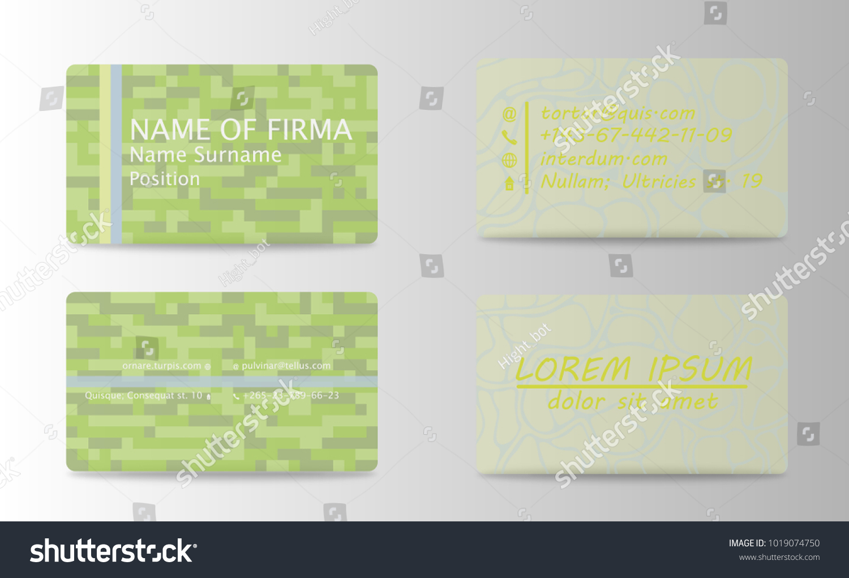Business Card Ideas Designers Web Design Stock Vector 1019074750 ...