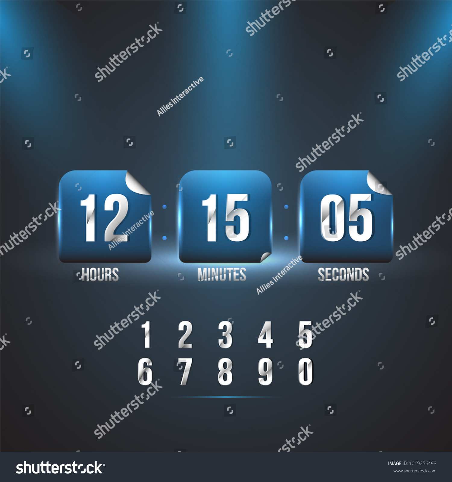 Countdown Web Site Vector Flat Template Stock Vector HD (Royalty ...