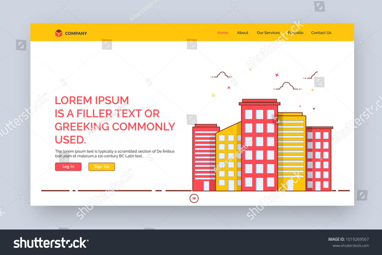 Website Template Websites Apps Stock Vector Royalty Free