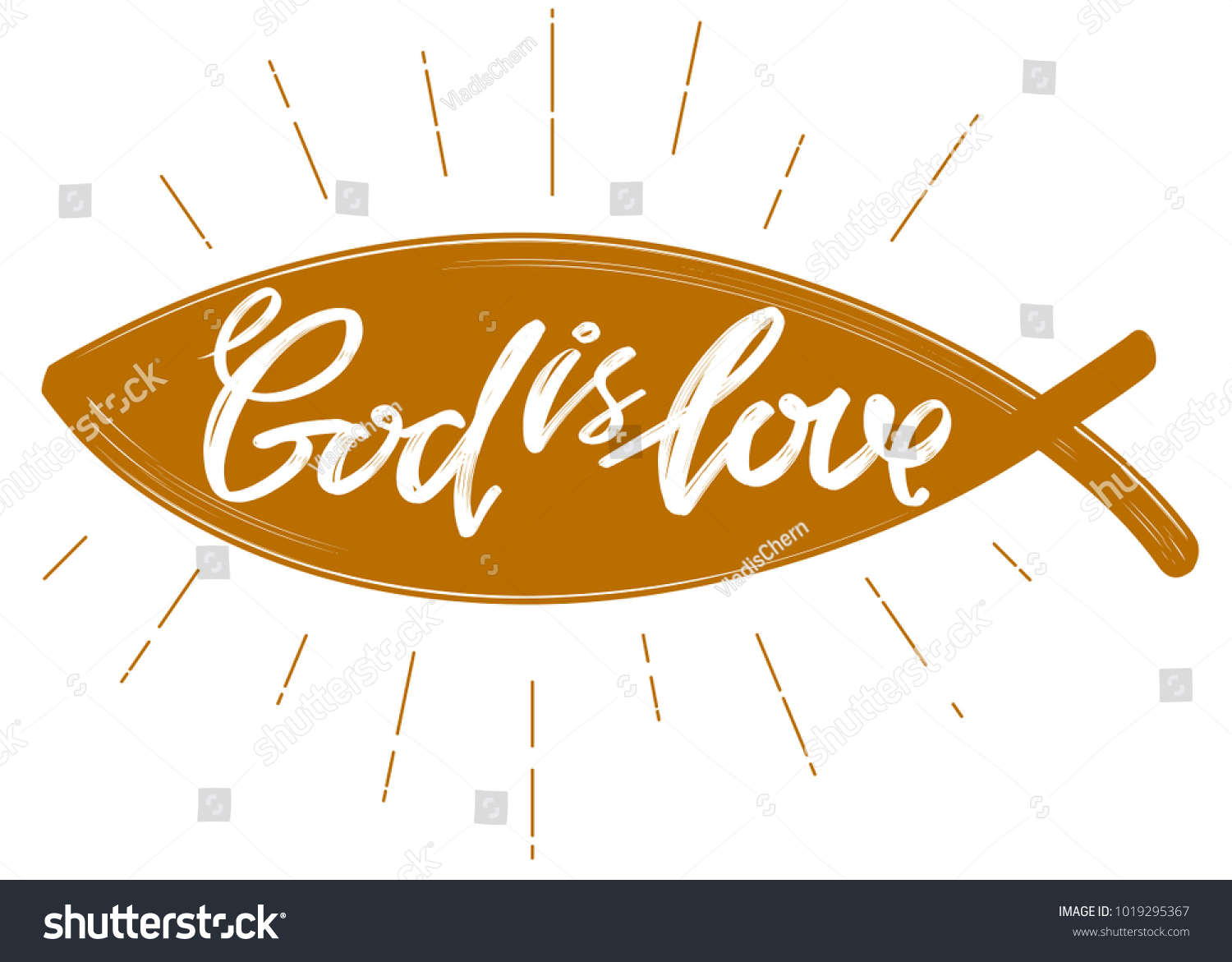 God love quote on background fish stock vector 1019295367 god is love the quote on the background of the fish calligraphic text symbol of biocorpaavc