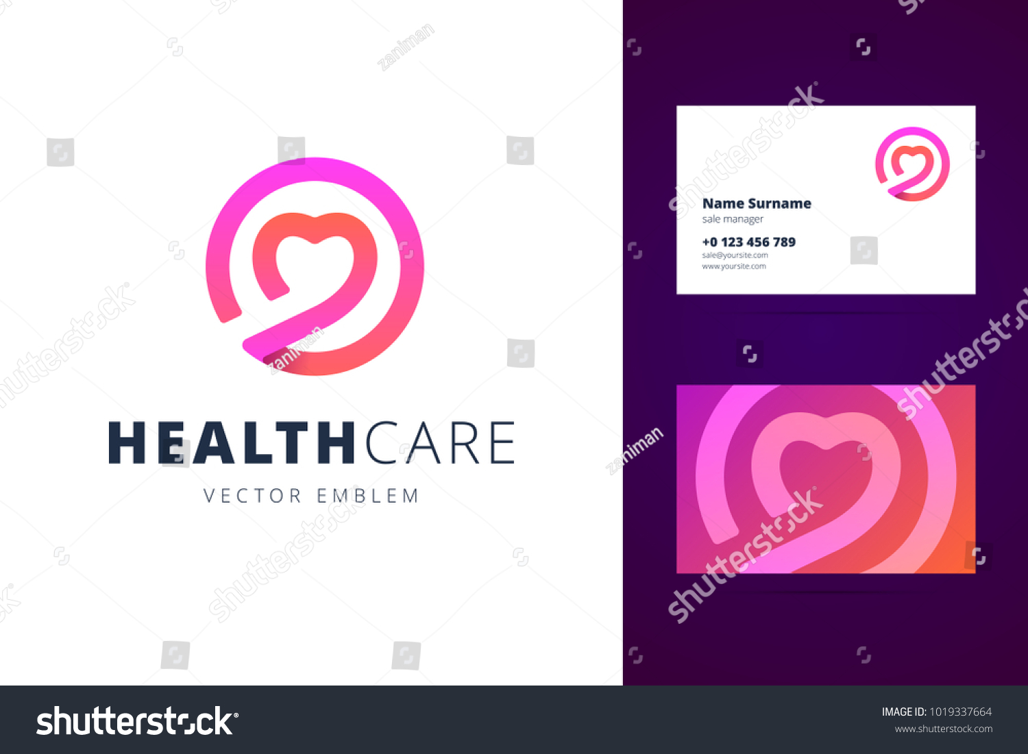Health Care Logo Business Card Template Stock Illustration ...