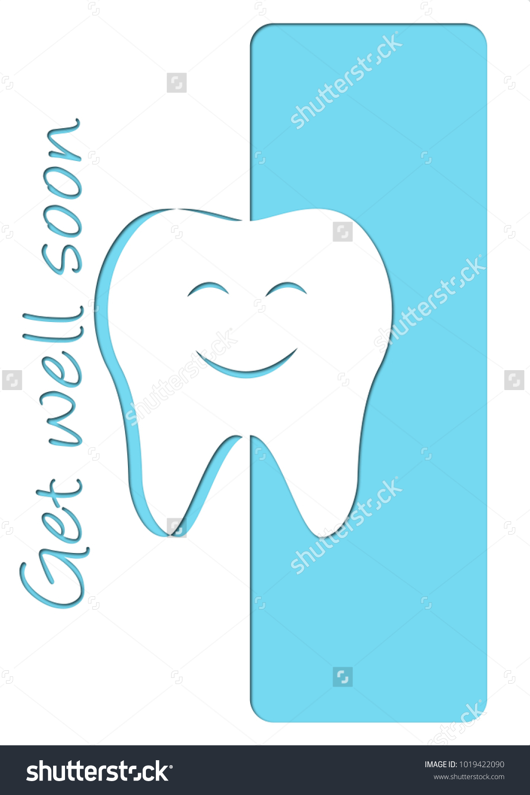 get well soon after dentist card stock vector royalty free