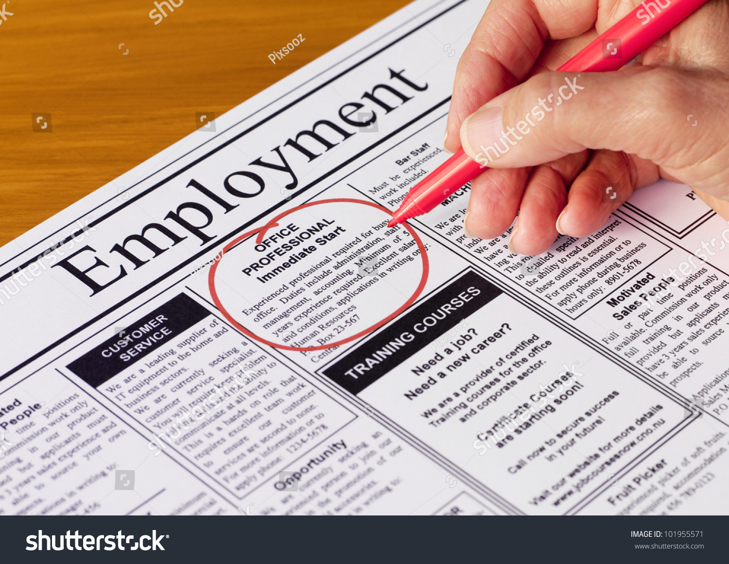 finding job employment section newspaper newspaper stock photo finding a job in the employment section of the newspaper newspaper created by photographer