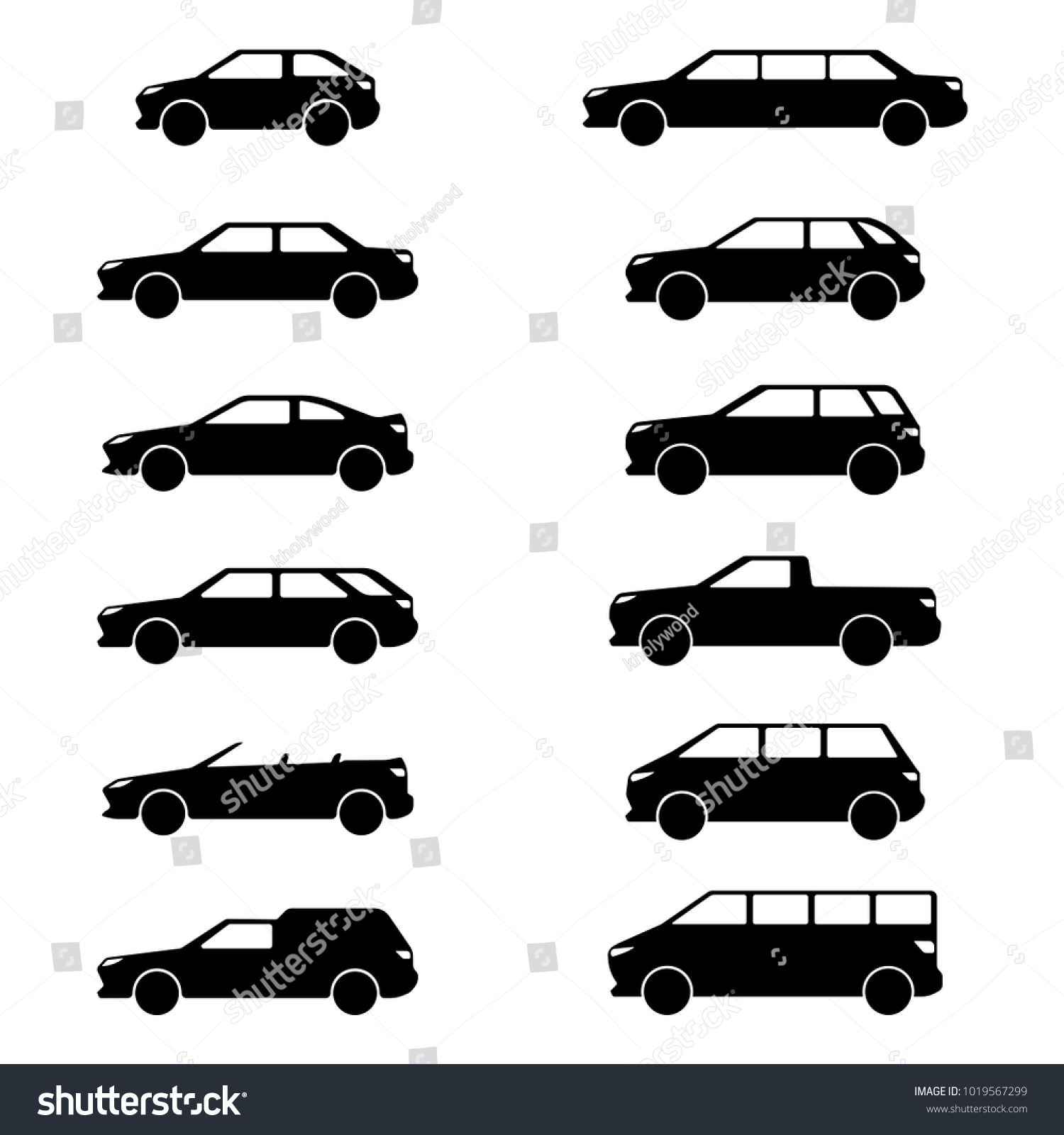 Vector Image Car Body Types Hatchback Stock Vector Royalty Free