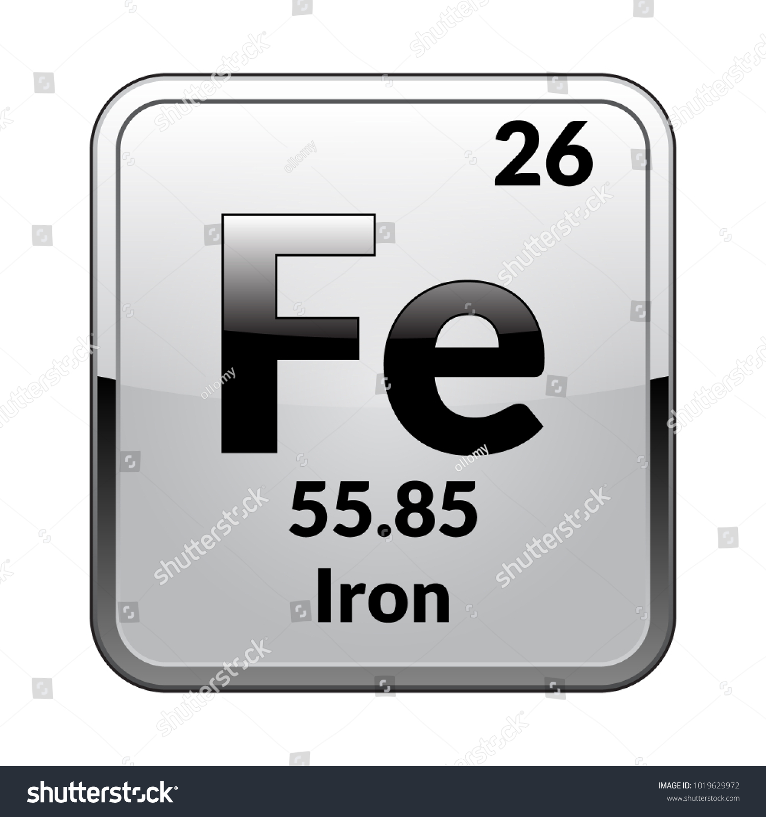 Iron symbolchemical element periodic table on stock vector iron symbolemical element of the periodic table on a glossy white background in a biocorpaavc Gallery