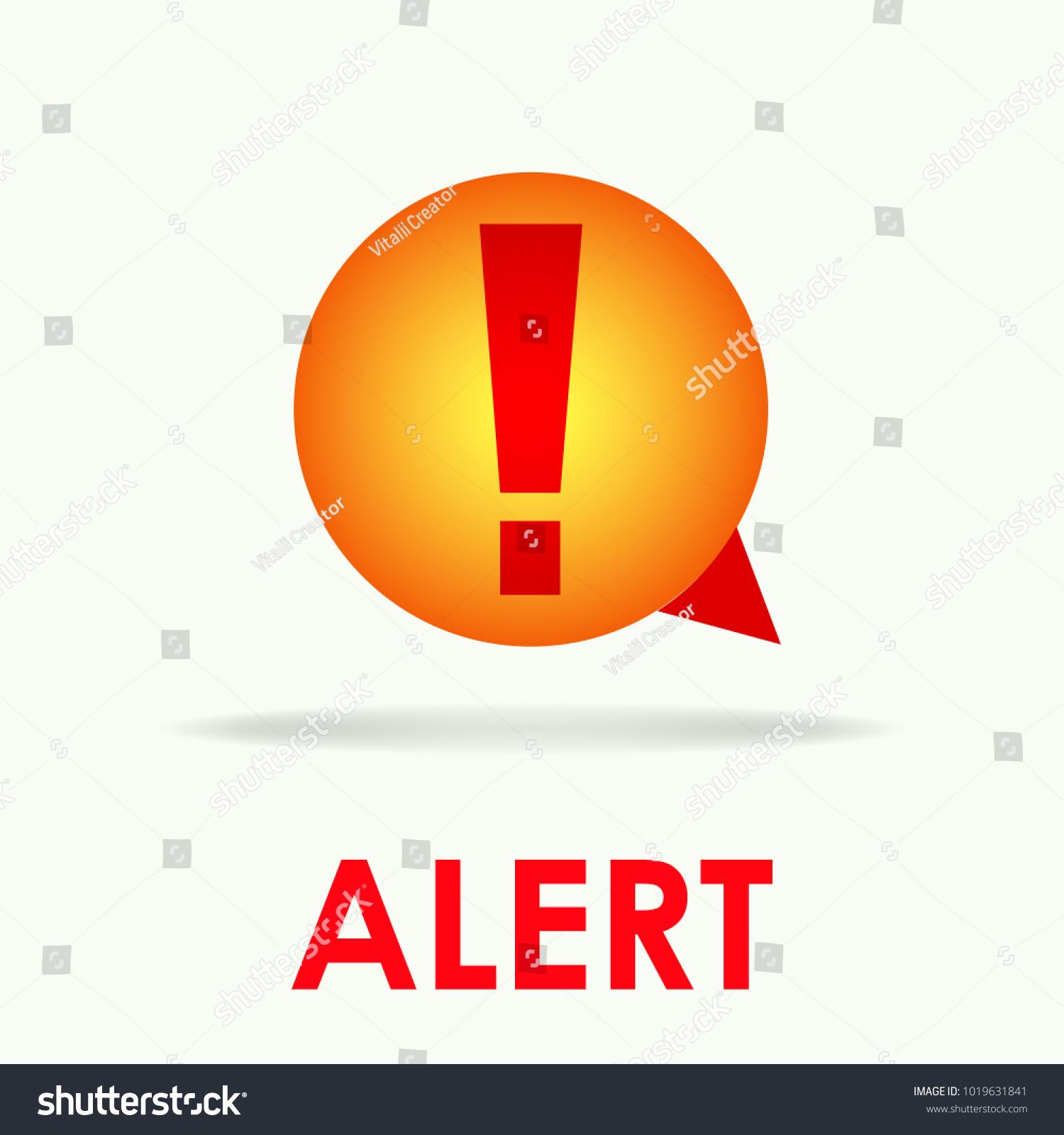 Vector Alert Logo Symbol Icon Stock Vector (Royalty Free) 1019631841