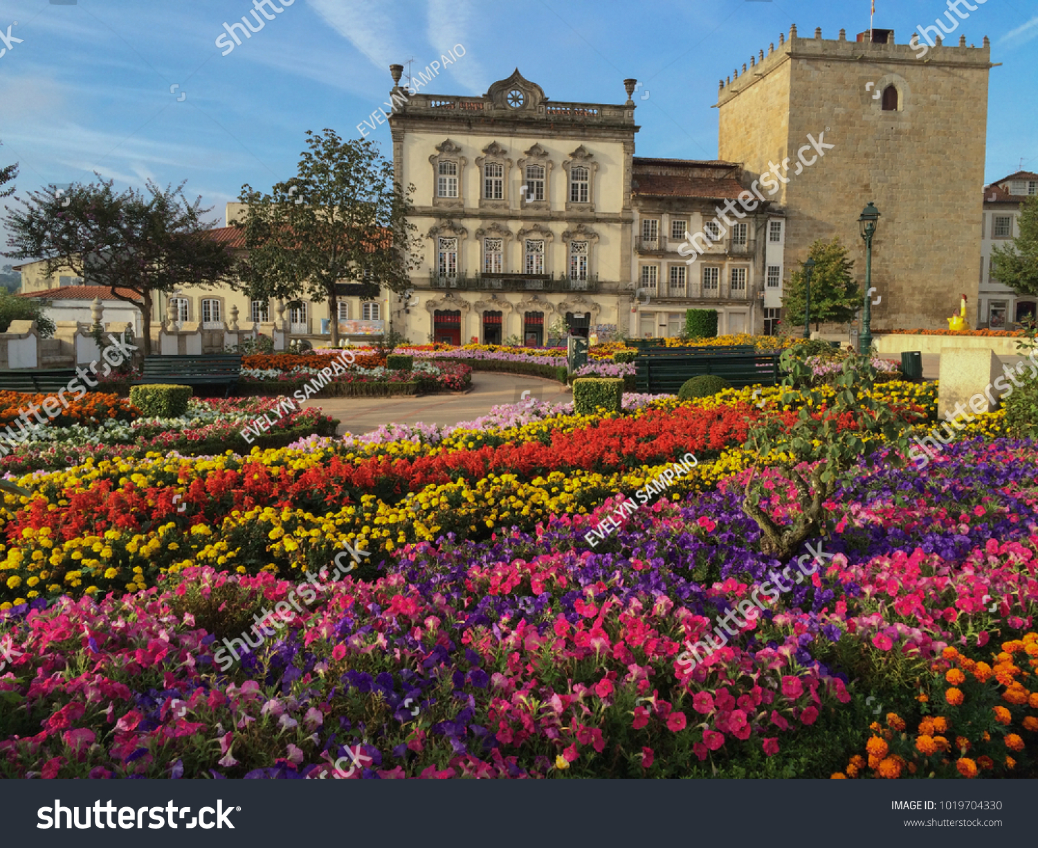 Barcelos City Portugal Old Buildings Flowery Stock Photo (Royalty ...