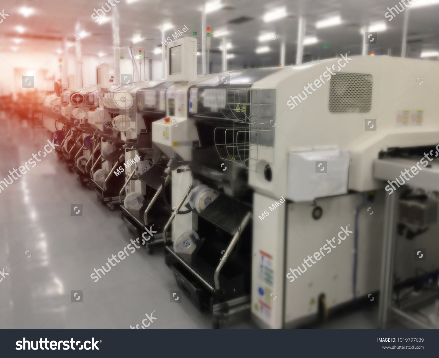 Surface Mount Technology Assembly Smt Reels Stock Photo Edit Now Circuit Board Printed Control For Embroidery Machine With In Pick And Place Chip Shooter