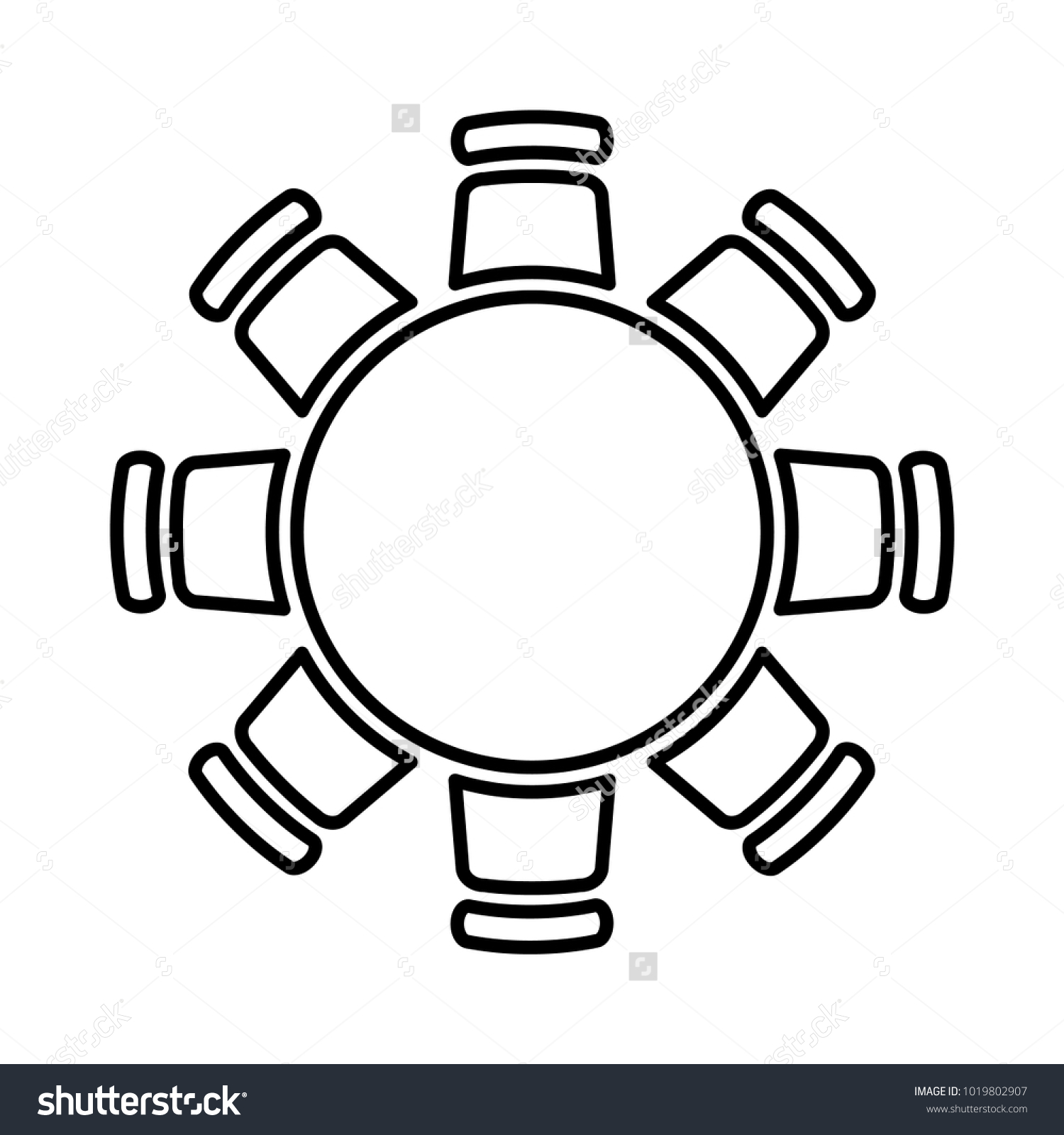 Round Table Icon Vector Illustration