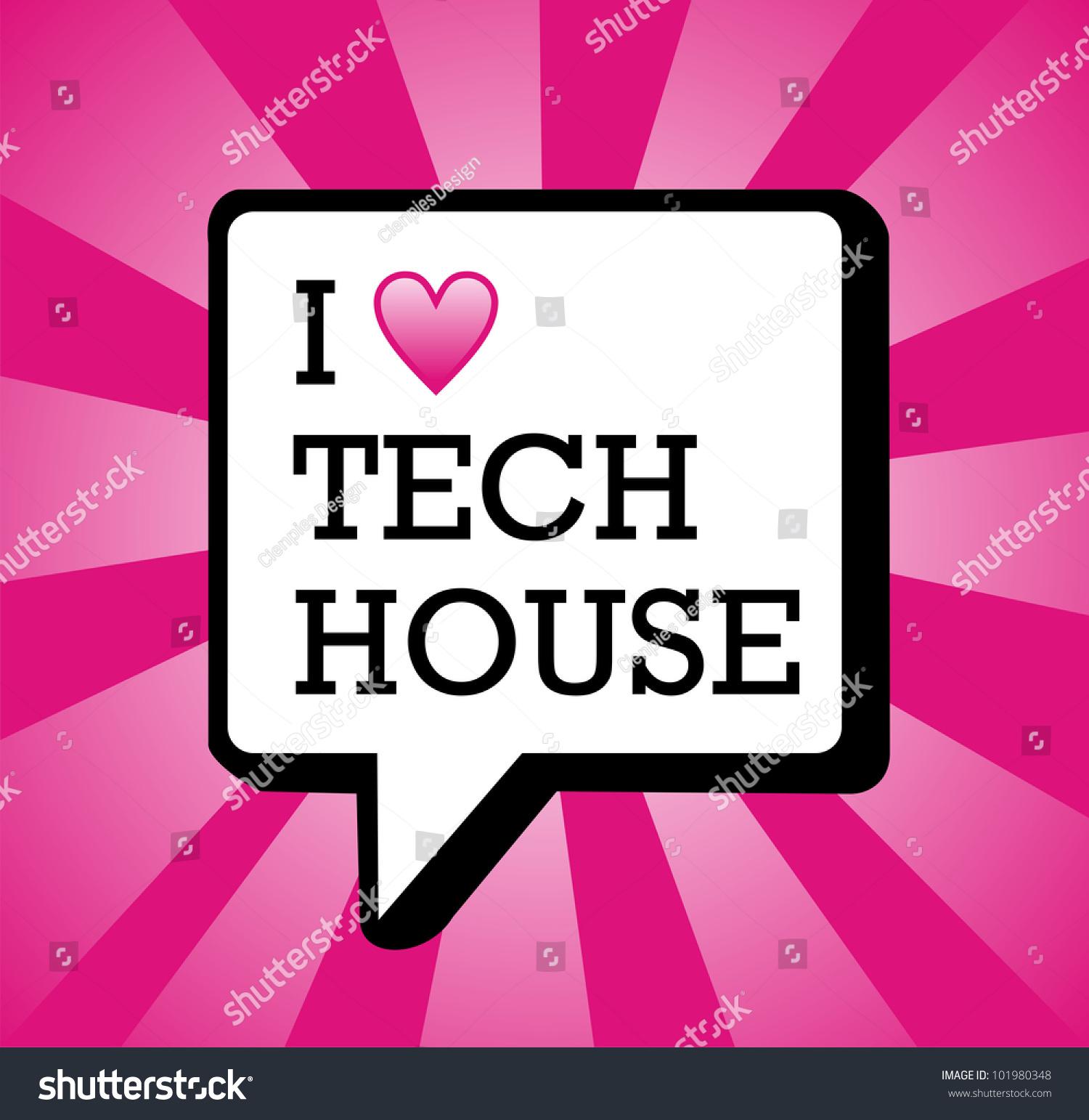 Love Tech House Text Communication Bubble Stock Vector 101980348 ...