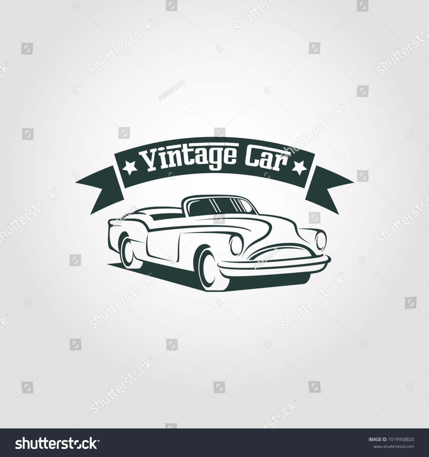 Vintage Car Logo Vector Stock Vector 1019958820 - Shutterstock