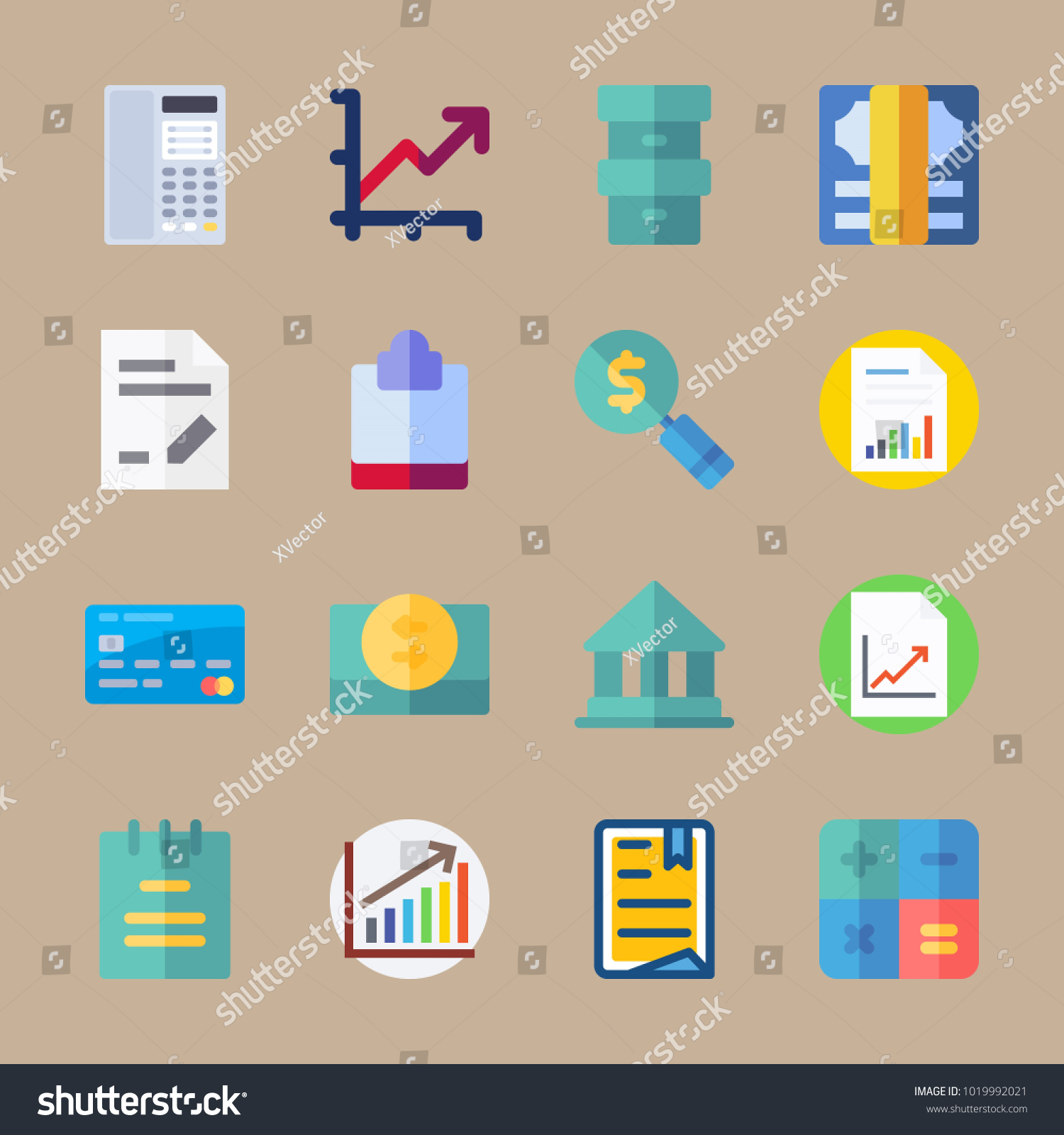 Icons banking paper box bar chart stock vector 1019992021 shutterstock icons banking with paper box bar chart consrtuction and calculator ccuart Gallery