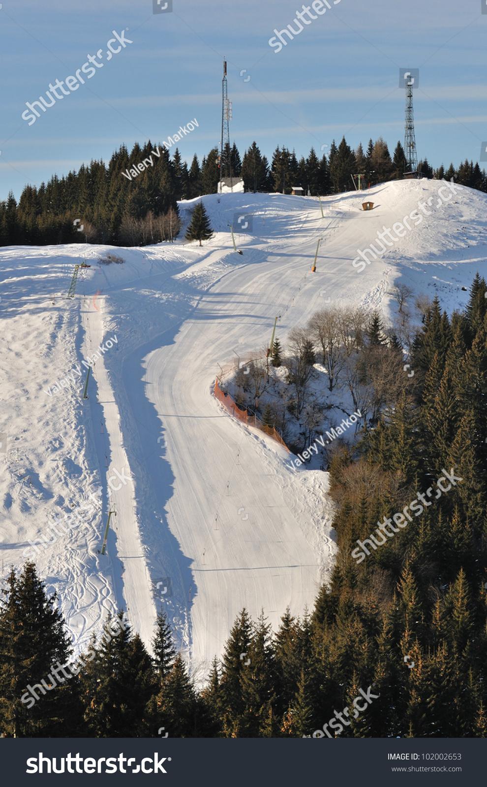 dreilandereck arnoldstein ski resort carinthia austria stock photo