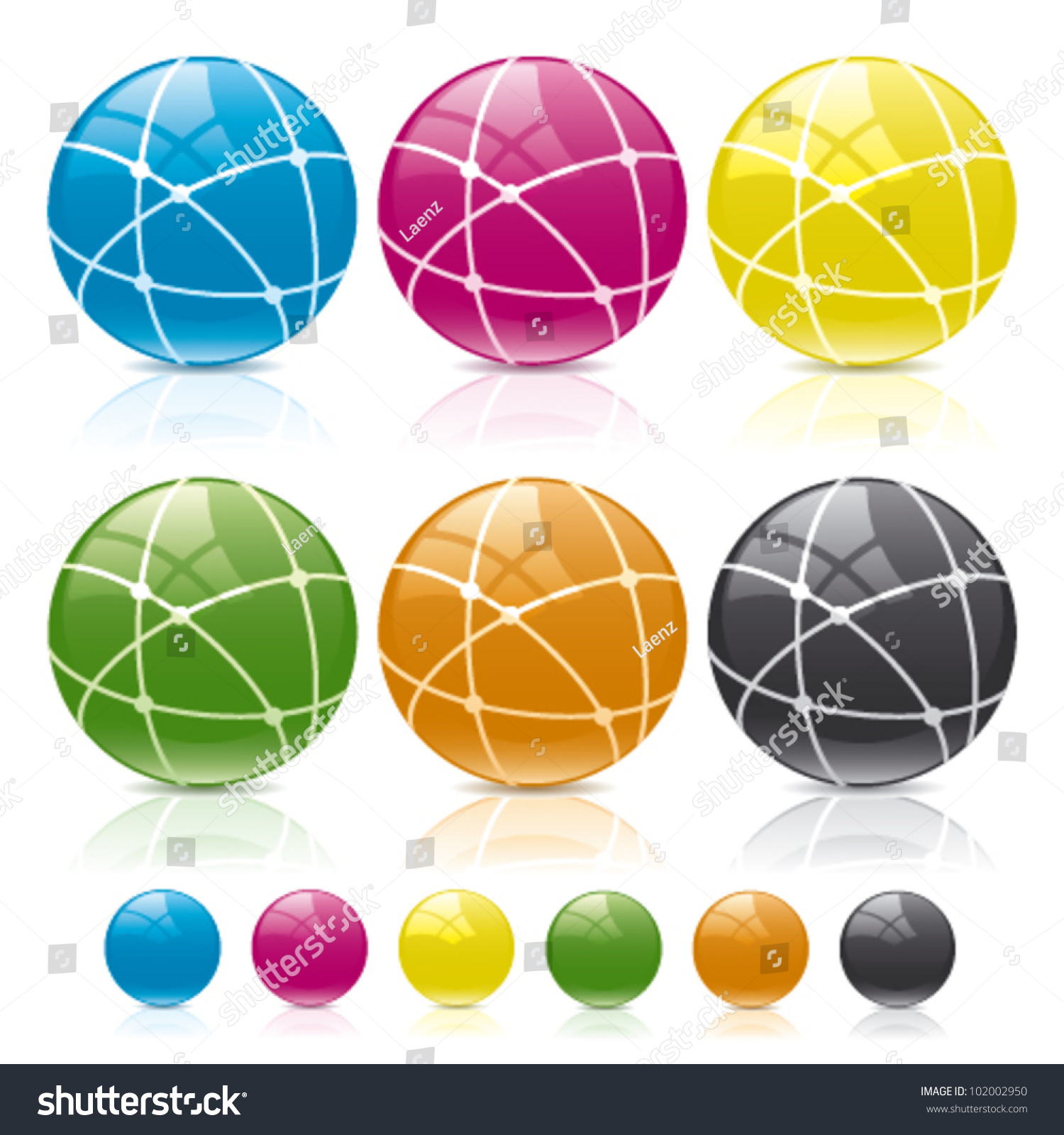 Globe Connect Colors Stock Vector Shutterstock