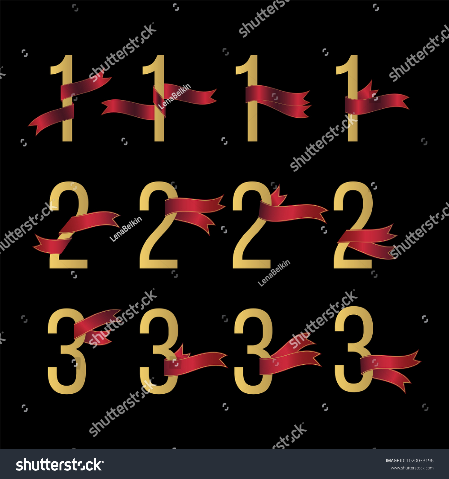 Symbol for number 1 image collections symbol and sign ideas set number 1 2 3 symbols stock vector 1020033196 shutterstock set of number 1 2 3 buycottarizona