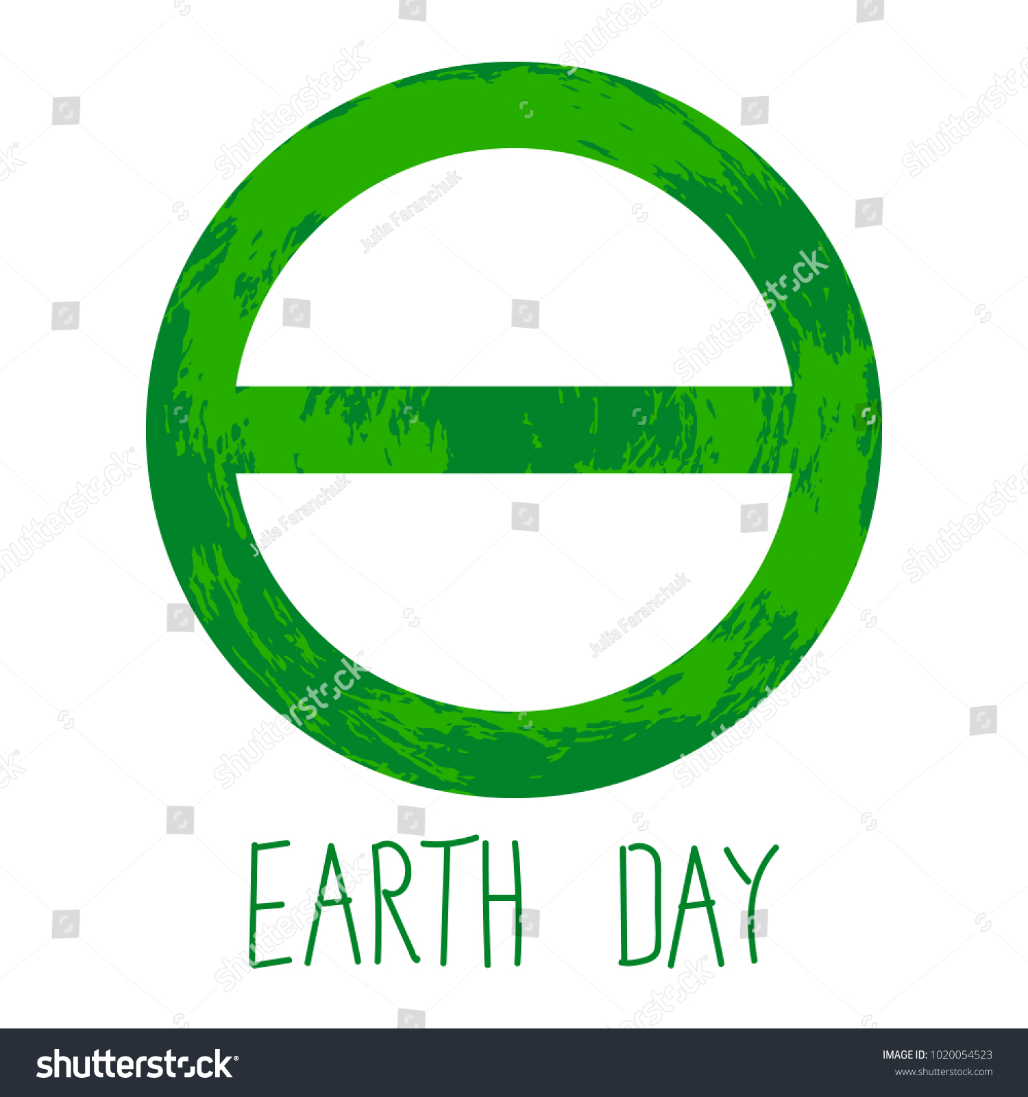 Symbol earth day greek letter theta stock vector 1020054523 symbol of earth day is the greek letter of theta biocorpaavc Image collections
