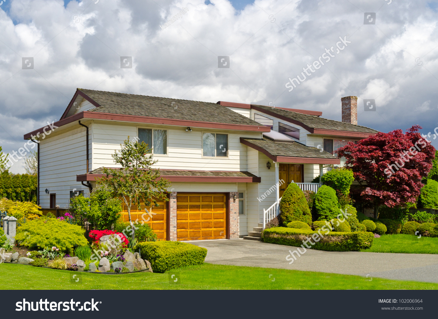 Luxury houses nice outdoor landscape vancouver stock photo for Nice houses in canada