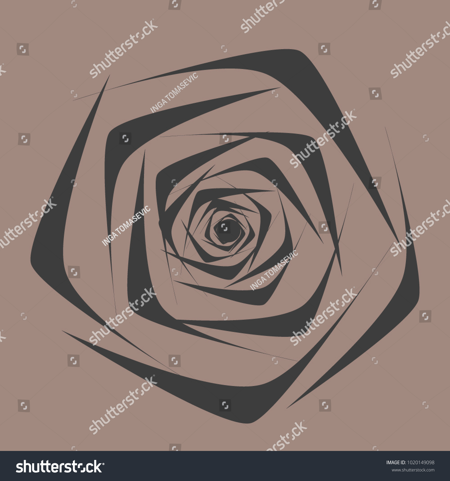 Rose vector flower beautiful black rose stock vector royalty free rose vector flower beautiful black rose in ethnic style for textile tile izmirmasajfo